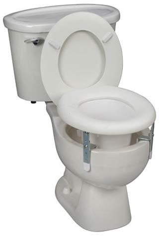 Mabis DMI Universal Plastic Raised Toilet Seat