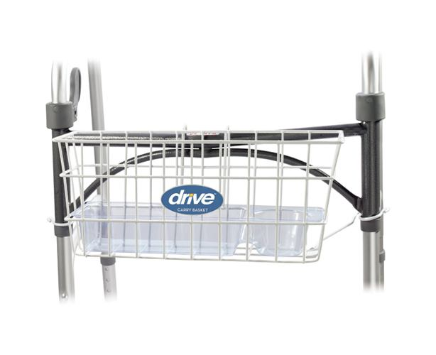 Drive Medical Walker Basket with Plastic Insert Tray