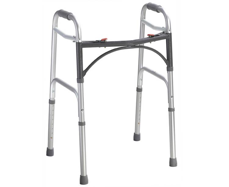 Drive Medical Deluxe Folding Walker, Two Button