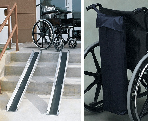 Mabis DMI Telescoping Adjustable Wheelchair Ramp