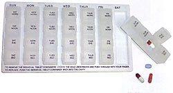Mabis DMI Weekly Pill Organizer
