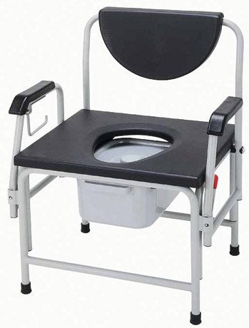 Heavy Duty Drop Arm Commode, 850 lb Capacity