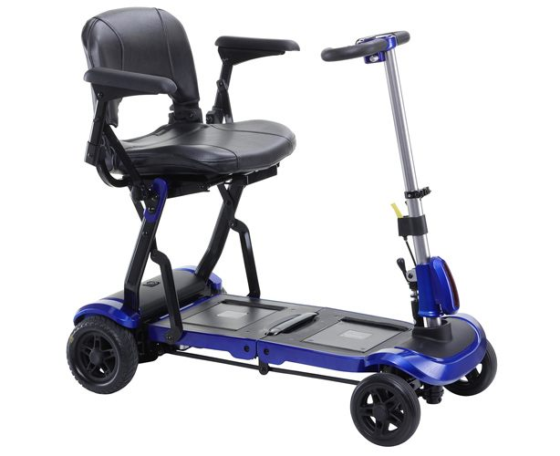 Drive Medical ZooMe Flex Ultra Compact Folding Travel 4 Wheel Scooter